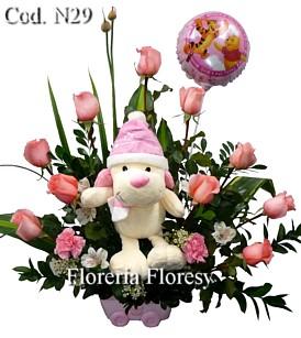 Arreglos Florales Para Nacimiento De Bebe En Lima Peru Floresy