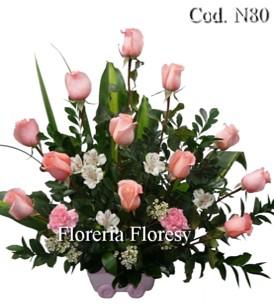 Arreglo Floral Para Nacimiento De Niña Peru Flores Para